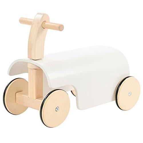 Labebe Andador, empujador de juguete de madera en las cuatro ruedas, andador, andador, balancín de 1 año