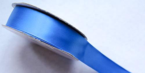 CaPiSo Ruban de satin double face de qualité supérieure 25 m x 25 mm Ruban décoratif Ruban cadeau double face (bleu roi)