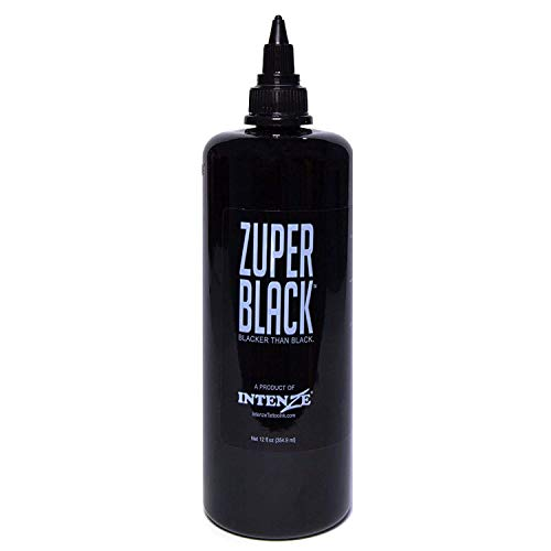 Intenze Professional Tattoo Ink Zuper Black 12 oz