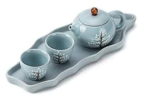 LBBZJM Conjunto de café de Servicio Conjunto de té, Juego de té, Estilo de cerámica Chino, hogar, Oficina, Regalo