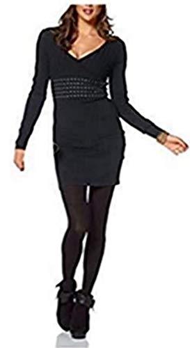 Melrose Kleid Strickkleid Schwarz - Gr. 36