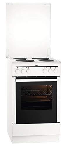 AEG CSB54000BW 50 cm Standherd mit Masse-Kochplatte / Grillfunktion / A