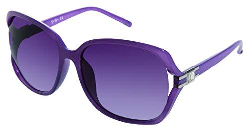 Jessica Simpson J5029 - Gafas de sol rectangulares con protección UV (cristal, 64 mm), color morado