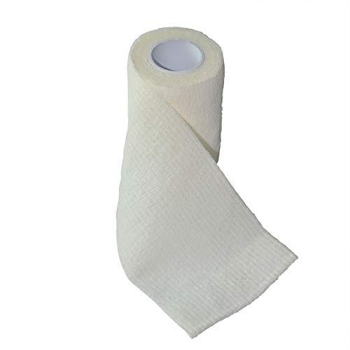 LACKINGONE Self-Adhesive Bandage Hand Leg Wound Bind Gauze Elastic White