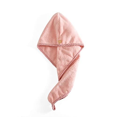 IAMZHL Toallas de Mujer Toalla de Microfibra de baño Toalla de Pelo de Secado rápido Toallas de baño para Adultos Toallas Microfibra toalha de banho-Bear Pink-25x65cm