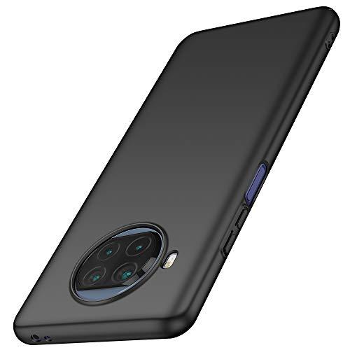 anccer Funda Xiaomi Mi 10T Lite 5G, Ultra Slim Anti-Rasguño y Resistente Huellas Dactilares Totalmente Protectora Caso de Duro Cover Case para Xiaomi Mi 10T Lite 5G (Negro)