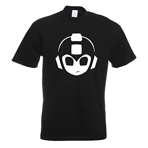 Mega Man Megaman Kopf T-Shirt Motiv Bedruckt Funshirt Design Print