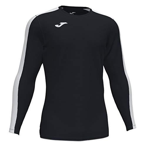 Joma Academy Camiseta Juego Manga Larga, Hombre, Negro-Blanco, L