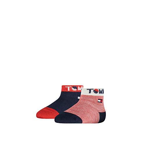 Tommy Hilfiger Wording Baby Socks (2 Pack) Calcetines, Marca: Tommy Original, 23-26 para Bebés