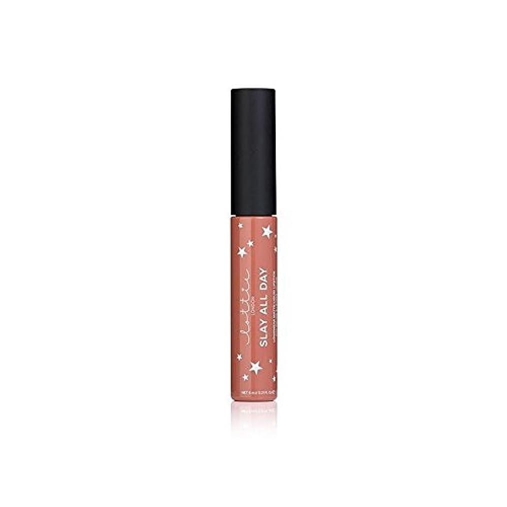 勇気皿メアリアンジョーンズLottie London Matte Liquid Lipstick - Fleek (Pack of 6) - - ロンドンマット液体口紅を x6 [並行輸入品]