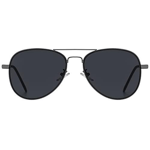 H HELMUT JUST Gafas de Sol Aviador para Hombre Mujer Piloto Espejo para Viajes UV400 Nergo HJ1304