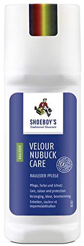 Shoeboy´s Velour Nubuck Care 75 ml zur Pflege, Farbaktivierung und Schutz für Velours-, Nubuk- und Wildleder in der Farbe dunkelblau