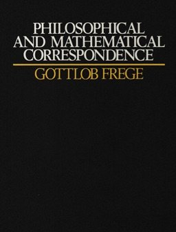 Philosophical and mathematical correspondence 0226261972 Book Cover