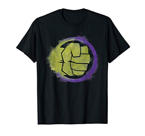 Marvel Avengers Endgame Hulk Spray Paint Logo T-Shirt