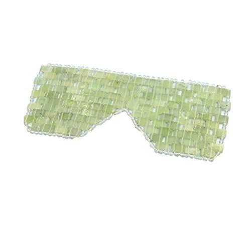 DC CLOUD Quartz Jade Yeux Bandés Masque pour Les Yeux en Jade Naturel Masque De Sommeil en Jade Anti-âge Bandeau pour Les Yeux Soulager La Fatigue des Yeux Refroidissement Détoxifiant C,1