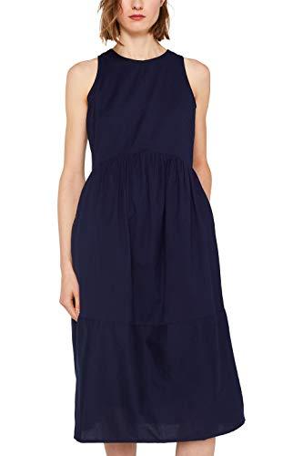 ESPRIT Damen 049EE1E040 Kleid, 400/NAVY, (Herstellergröße: 38)