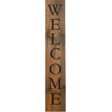 Welcome Vertical Sign - Welcome Vertical Wooden Sign - Farmhouse Style- Vertical Welcome Sign 48