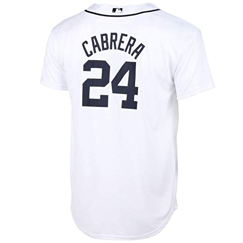 Miguel Cabrera Detroit Tigers White Toddler Cool Base Home Jersey (2T)