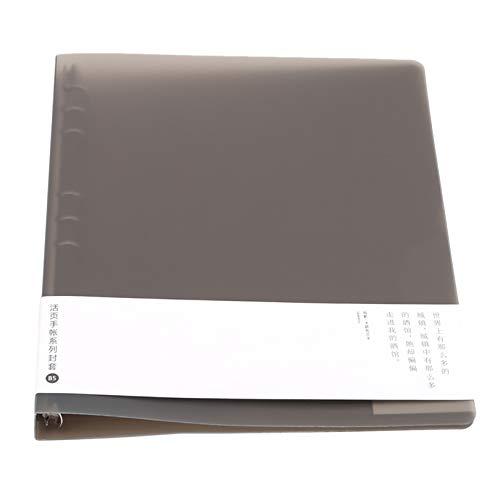 BCDZZ Bloc de notas de hojas sueltas A5/A6/B5 grueso hoja suelta, cuaderno desmontable Shell papelería, diario recargable carpeta de archivos escuela, marrón B5