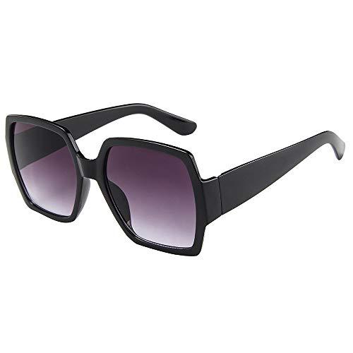 ZEZKT gafas de sol cuadradas para mujer y hombre moda unisex gafas de sol vintage de marco grande casual sunglasses para viajes al aire libre G