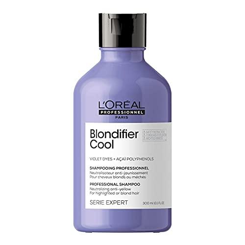 L Oréal Professionnel   Champú Neutralizante Para Cabellos con Mechas o Rubios, Blondifier Cool, SERIE EXPERT, 300mL