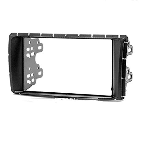 Double Din car Dash Installation kit Radio Stereo Facia Fascia Panel Frame DVD Player Dash Install Panel for Toyota Hilux 2011-2015 Fortuner 2011-2015