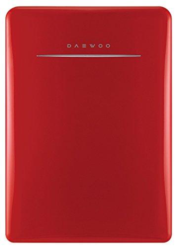 Daewoo FR-028RCNR refrigerador compacto retro 2.8 Cu. cuadrados | rojo puro