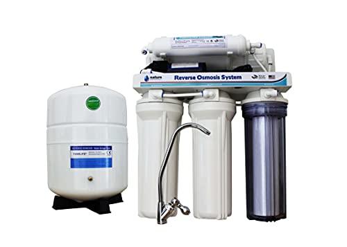 NATURE WATER PROFESSIONALS Equipo de Osmosis Inversa de 5 Etapas - Membrana de 75GPD + Filtros Nature Water Professional - Capacidad Media 6L - Filtración de Agua Potable