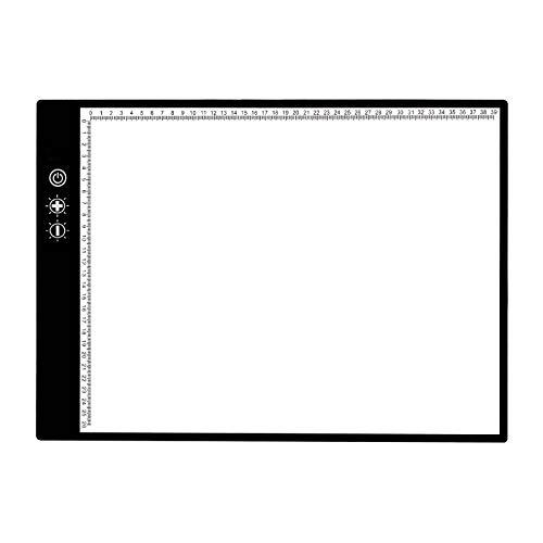 MagiDeal Caja de luz LED grande tamaño A3, placa de dibujo de seguimiento, plantilla de dibujo, interruptor de Sensor táctil