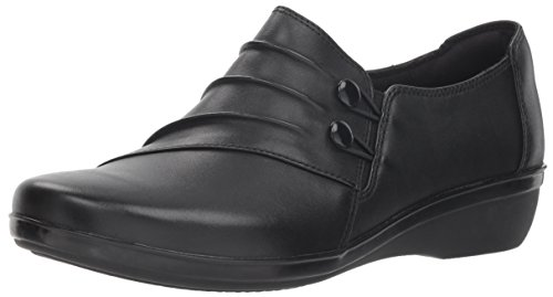 Price comparison product image CLARKS Women's Everlay Romy Loafer,  Black Leather,  60 W US