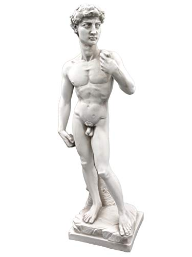gartendekoparadies.de Wunderschönes Abbild Figur David von Michelangelo aus Steinguss, frostfest