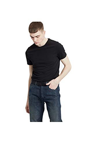 Levi s Slim 2Pk Crewneck 1 Vaqueros Skinny, Two-Pack tee Black + Black, XXL 2 para Hombre