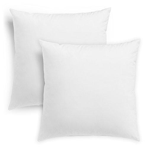 sleepling 196358 2er Set Feder- und Daunenkissen Sofakissen, Bezug aus 100% Baumwolle, 50 x 50 cm, weiß