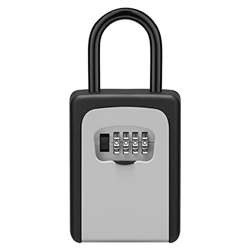 Key Safe Lock Box Outdoor Wall Mounted Weatherproof 4 Digit Combination Storage Box,System Attachments Hook