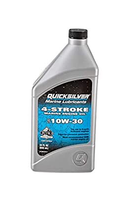 Quicksilver 8M0078616 4-Stroke Marine Engine Oil – for Outboard, Sterndrive & Inboard Engines – SAE 10W-30 Mineral – 1 Quart from Quicksilver