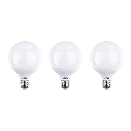 SET LAMPADINE LED DYA GLOBO E27 ALTA LUMINOSITÀ (4000K LUCE NATURALE, 3PZ 14W)