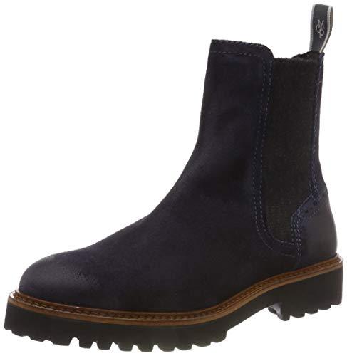 Marc O'Polo Damen Flat Heel Chelsea Boots, Blau (Navy 890), 37.5 EU