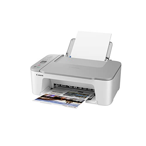 Canon PIXMA TS3451 - Stampante multifunzione DIN A4 (scanner, fotocopiatrice, stampante, 4800 x 1200 DPI, LCD, WLAN, USB, Apple AirPrint, PIXMA Cloud Link, stampa fronte/retro, bianco