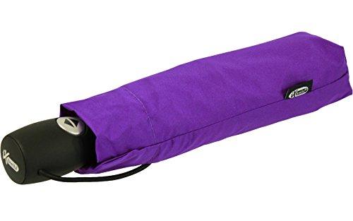iX-brella Leichter Solider Taschenschirm mit Auf-Zu-Automatik - mid Class - Berry