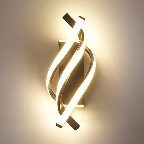 ANDAST Applique da Parete LED, Lampada da Parete interno LED,Applique da Muro Spirale 18W, Lampada Muro Applique per Lampada Soggiorno Camera da Letto Scale