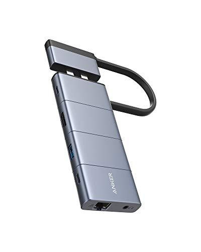 Anker PowerExpand 9-in-2 USB-C メディア ハブ 4K HDMIポート 100W出力 PD対応 USB-Cポート 多機能USB-Cポ...