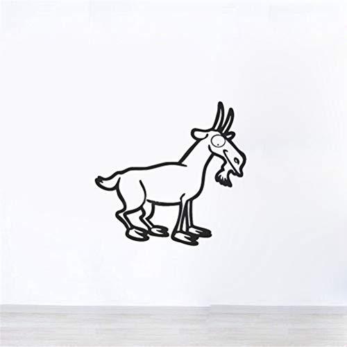 pegatina de pared pegatina de pared frases Animal lindo cabra para niños habitación de bebé precioso regalo