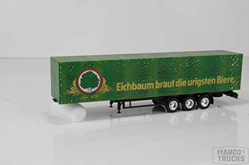 """herpa Kofferauflieger grün/schwarz 3a """"Echbaum Braut die urigsten Biere"""" /H646-1"""