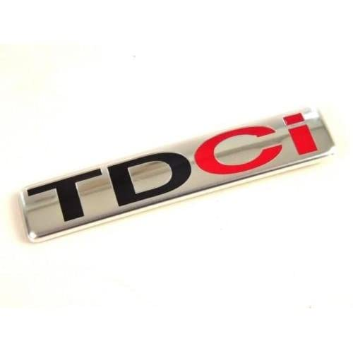 Chrome TDCI 83mm x 18mm Rear Boot Lid Tailgate Trunk Badge Emblem For Focus Fiesta Transit Mondeo B C S MAX