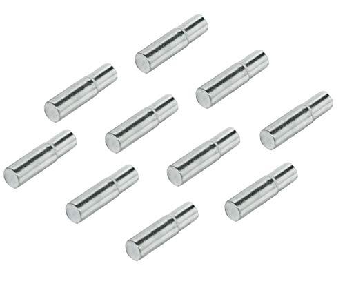 Gedotec Tablarträger für Regalsystem Fach-Bodenträger Küche Regalstütze für Regal-Möbel - H3113 | Bohr-Ø 5 mm | Stahl vernickelt | 100 Stück