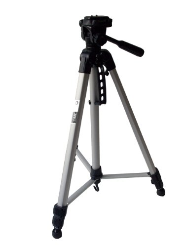 Ideal Solution ID-PFV5 - Treppiede con custodia per macchina fotografica reflex/ibrida/videocamera, colore: Argento