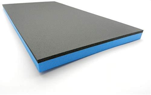 Bandeja para herramientas de espuma dura para carro de herramientas, color negro y azul, 20-50 mm de grosor (330 x 430 x 30 mm)