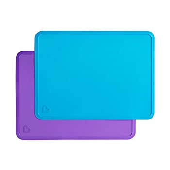 Munchkin Silicone Placemats for Kids 2 Pack Blue/Purple