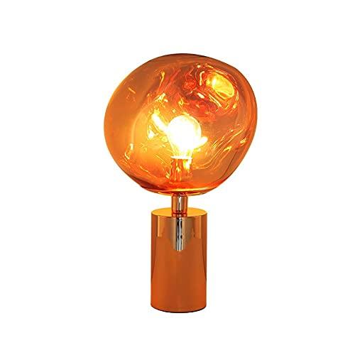 Lámpara de candelabros modernos, lámpara de mesa de lava de cristal, colgante de lava de bola de espejo de derretido, sala de estar, dormitorio, restaurante, tienda, bar bricolaje combinación creativa