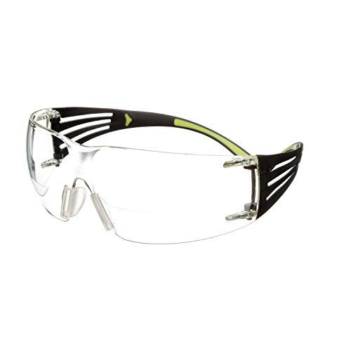 3M SecureFit 400 Gafas de seguridad de aumento, Anti-rayaduras/Anti-empañamiento, Lente transparente +2.0, SF420AS/AF